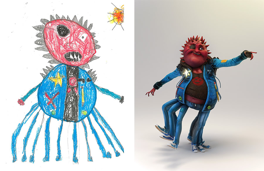 the-monster-project-6-desenhos-criancas-ilustracoes-incriveis-blog-geek-publicitario