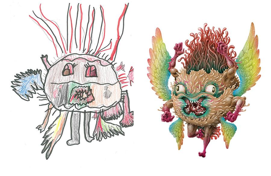 the-monster-project-8-desenhos-criancas-ilustracoes-incriveis-blog-geek-publicitario