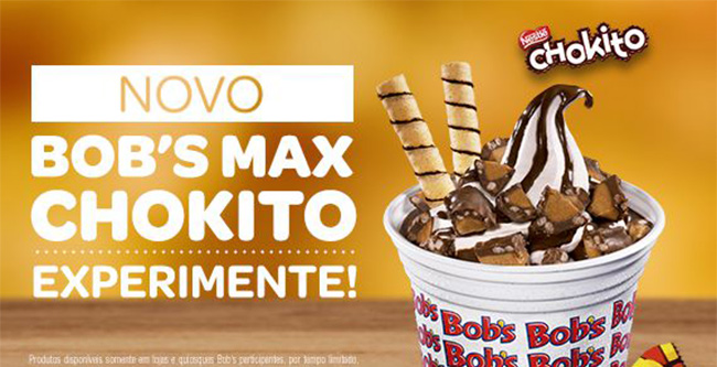Bob's lança sobremesa Bob's Max sabor Chokito
