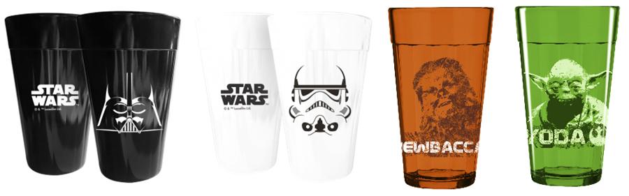 Copo Americano com os personagens Darth Vader, Stormtrooper, Chewbacca e Yoda - R$ 34,90 cada