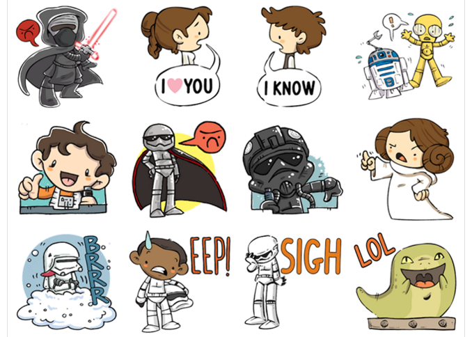 Facebook lança novos stickers com temas do Star Wars
