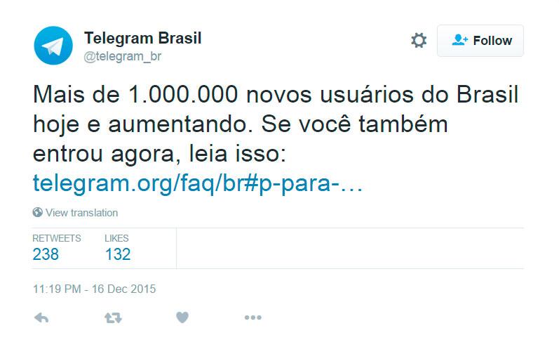 telegram-brasil-um-milhao-novos-usuarios-4-horas-blog-geek-publicitario