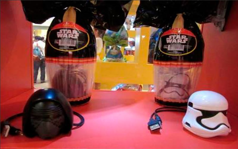 Nestlé lança ovo de páscoa do Star Wars com caixas de som de Kylo Ren e Stormtrooper
