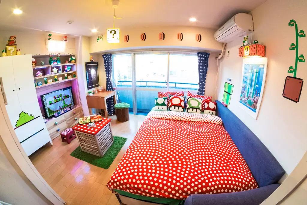 quarto-inspirado-mario-bros-airbnb-blog-geek-publicitario