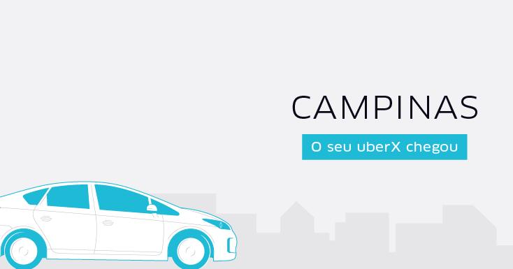 Campinas é a primeira cidade do interior a receber o Uber no Brasil