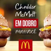 Leve Cheddar McMelt em Dobro nesta promoção do McDonald's. Pegue seu cupom!