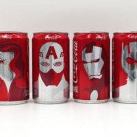 Coca-Cola e Marvel criam latinhas inspiradas em Capitão América: Guera Civil