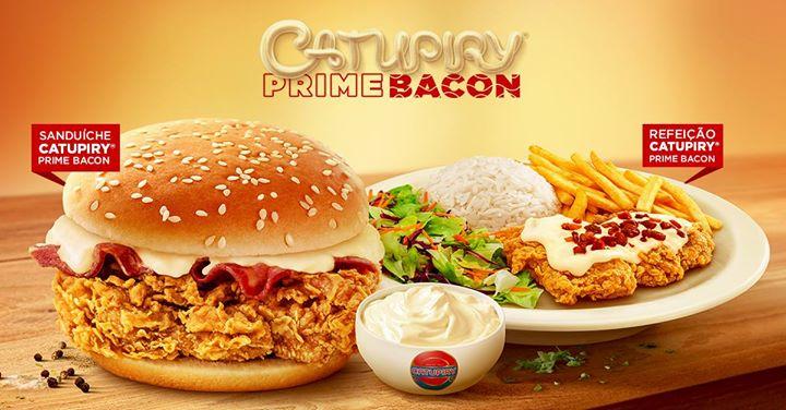 KFC lança sanduíche Catupiry Prime Bacon