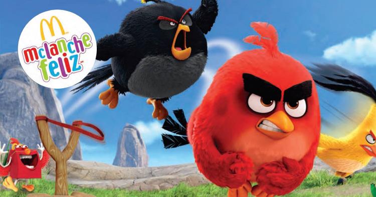 Angry Birds estão de volta e são próximos brindes do McLanche Feliz