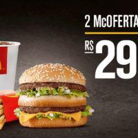Leve 2 McOfertas Big Mac por R$ 29. Pegue seu cupom!