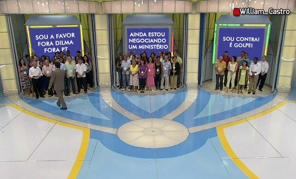 Meme brincava com método de votação do  extinto Programa Tentação, comandado por Silvio Santos.