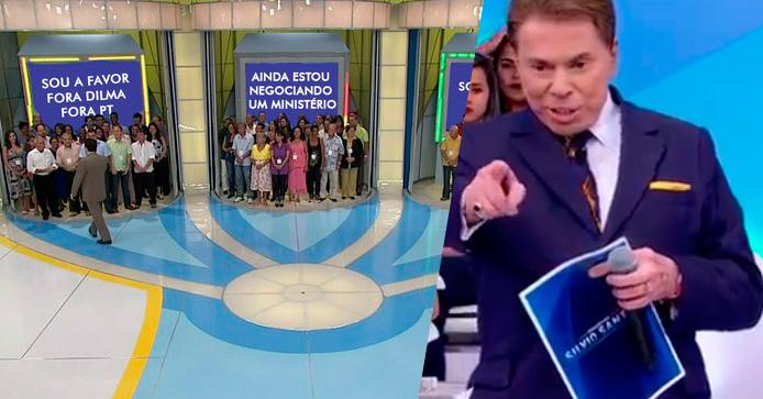 """Silvio Santos brinca com meme do """"Tentação"""" sobre votação do Impeachment"""
