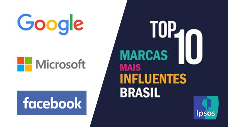 Google é a marca mais influente entre os brasileiros. Confira o ranking!