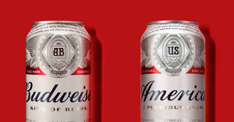 Budweiser vira 'America' nos EUA para celebrar eleições