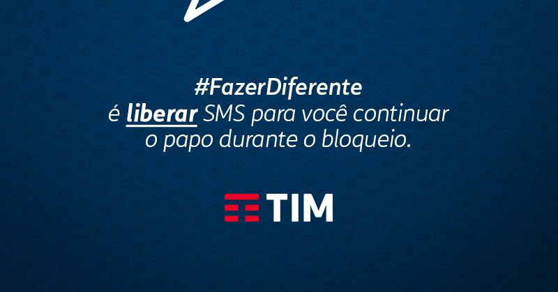 TIM libera SMS grátis para seus clientes em resposta ao bloqueio do Whatsapp