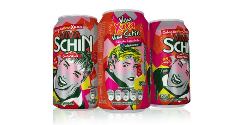 Viva Schin lança latas inspiradas em Xuxa Meneghel