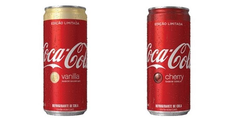 Coca-Cola lança sabores Baunilha e Cereja no Brasil