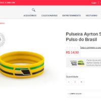 Você já pode comprar a pulseira inspirada em Ayrton Senna