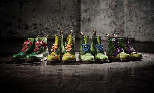 Dr. Martens lança calçados inspirados nas Tartarugas Ninjas