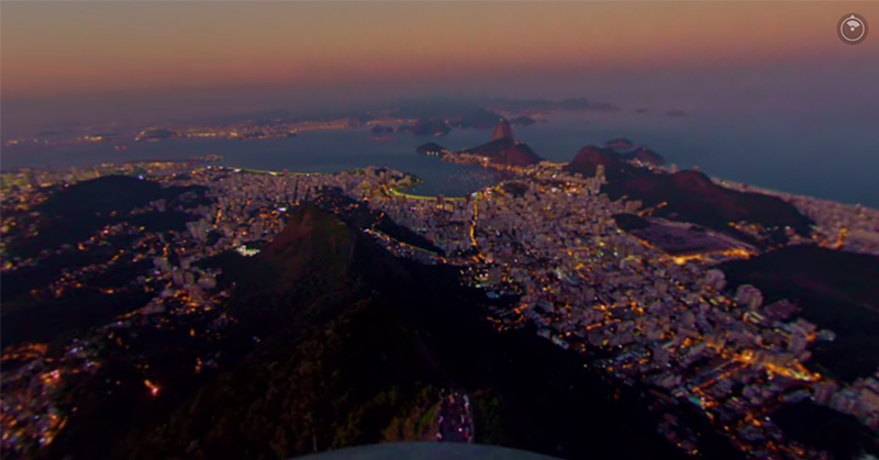 MasterCard cria time-lapse 360º do Rio de Janeiro sob o olhar do Cristo Redentor