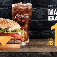 McOferta McNífico Bacon por R$ 18,50. Pegue seu cupom