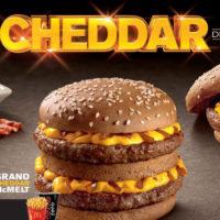 Grand Cheddar McMelt, Super Cheddar Bacon e McFritas Cheddar Bacon estão de volta no McDonald's