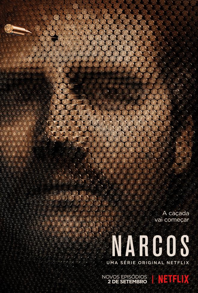 Pôster de divulgação da segunda temporada de Narcos.