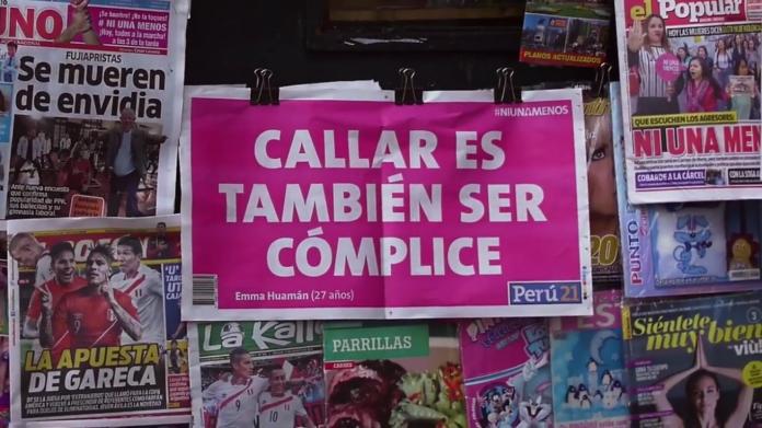 A ação social peruana recolheu relatos de várias mulheres que são violentadas para estampa-los como manchete no Peru21, um dos maiores jornais do país.