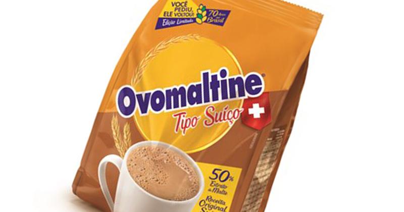 Ovomaltine Tipo Suíço é relançado no Brasil em edição limitada