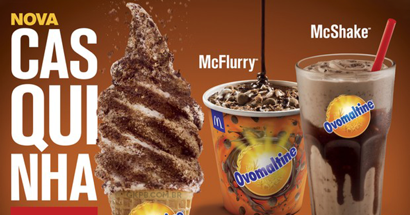 McDonald's apresenta casquinha de Ovomaltine