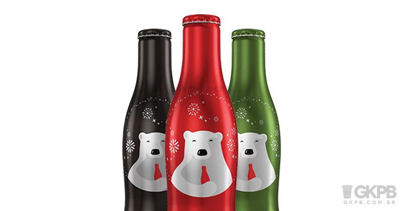 Coca-Cola lança garrafas em alumínio especiais de Natal