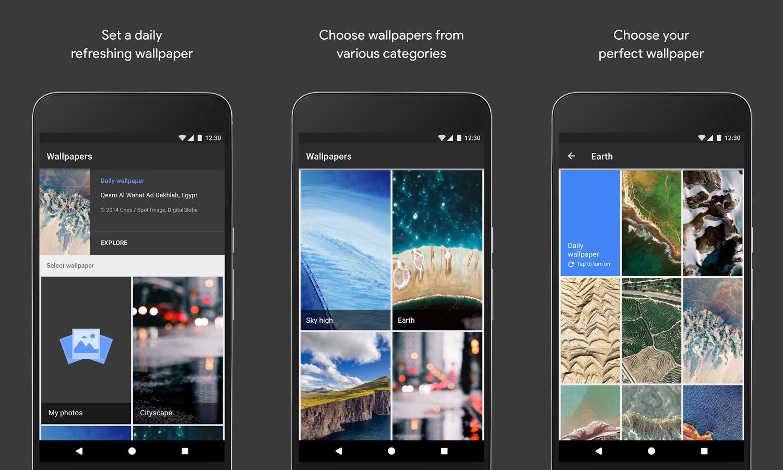 Google lan a app oficial de planos de fundo para o android for App para planos