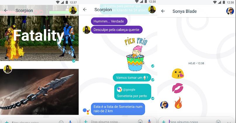 Google Allo imagina conversa entre personagens de Mortal Kombat
