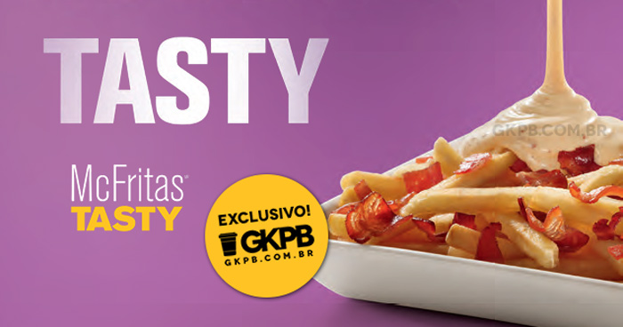 McFritas Tasty Bacon: McDonald's lança batatas fritas com molho do Big Tasty
