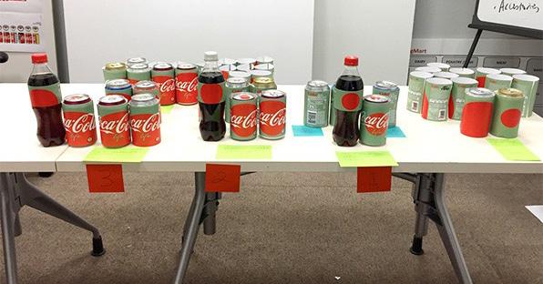 O processo criativo das novas embalagens da Coca-Cola