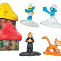 Smurfs são os brindes do McLanche Feliz em abril no McDonald's