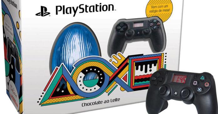 c6b21cc8511 Ovo de Páscoa do Playstation 4 traz relógio em forma de controle ...