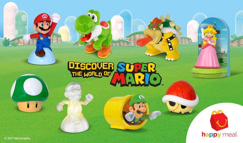 McDonald's lança nova coleção de brindes do Super Mario nos EUA