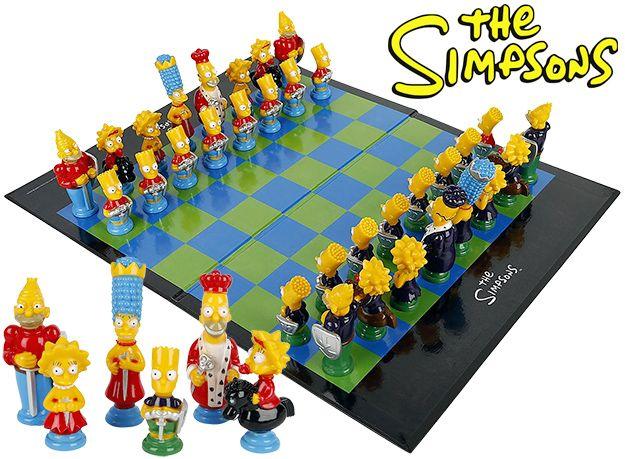 """Desenho animado """"Os Simpsons"""" ganha tabuleiro de xadrez"""