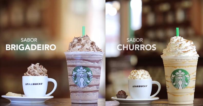 Starbucks lança Frappuccinos sabor Brigadeiro e Churros