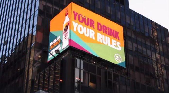 Cachaça 51 na Times Square