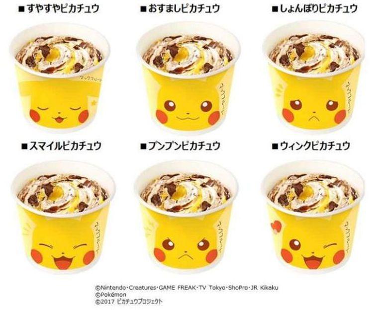Resultado de imagem para McFlurry Pikachu chega ao McDonald's no Japão