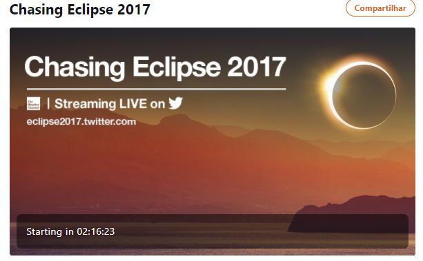 Twitter e Facebook transmitirão hoje o eclipse solar ao vivo