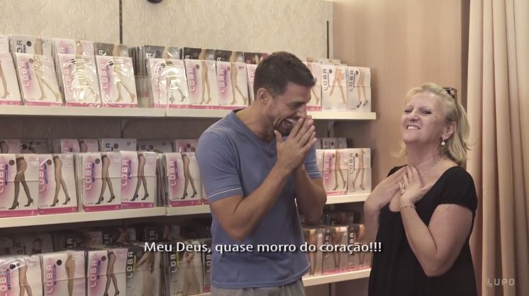 Ação da Lupo transforma namorados de clientes em Cauã Reymond