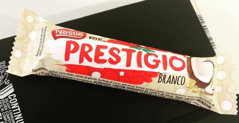 Nestlé lança Prestígio de chocolate branco