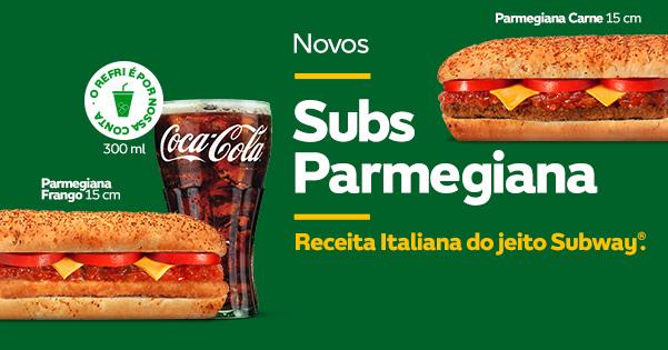Subway lança sanduíches com recheio de parmegiana. Sim, parmegiana.