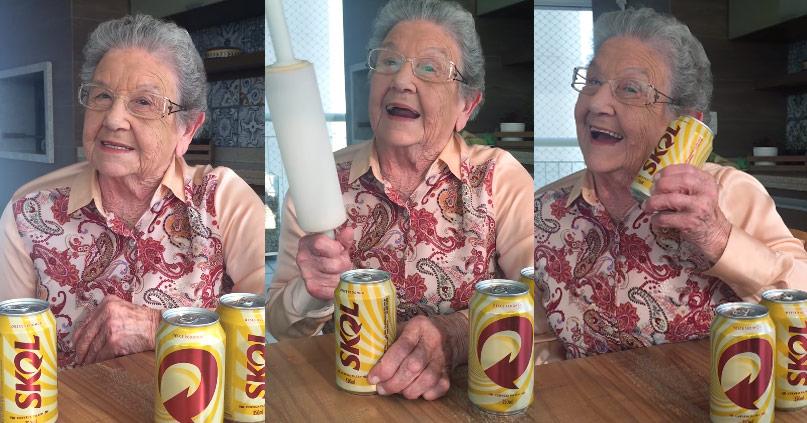 Com Palmirinha, Skol comenta milho na composição da cerveja