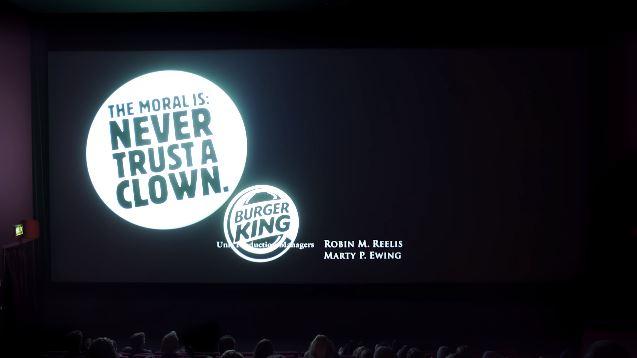 """Burger King cutuca McDonald's em créditos de """"It: a coisa"""""""