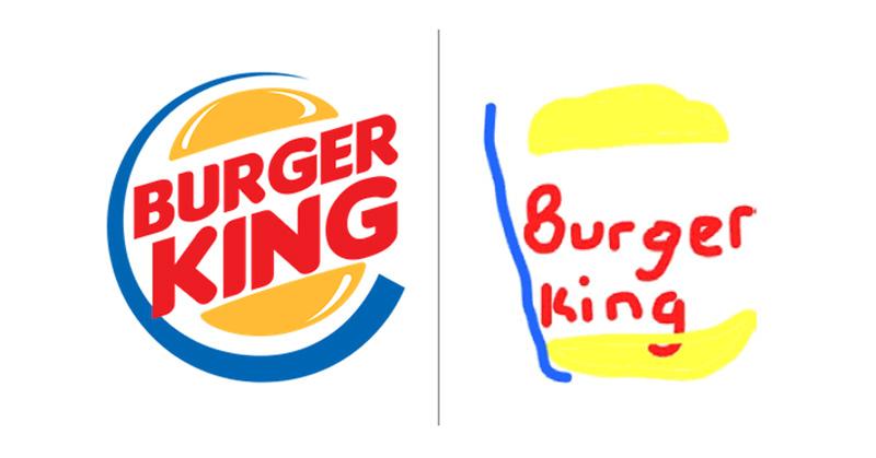 E se você precisasse desenhar um logo só pela lembrança dele em sua mente?