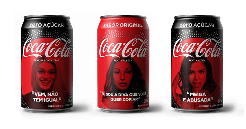 Coca-Cola lança latinhas com rosto de Anitta, Pabllo Vittar e outros cantores brasileiros